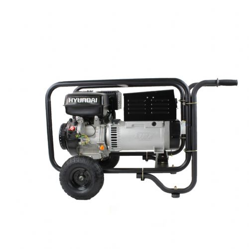 Hyundai HY220DC Hire Pro Recoil Start Site Petrol Welder Generator 5 Kw 220 Amp 115/230V~50Hz